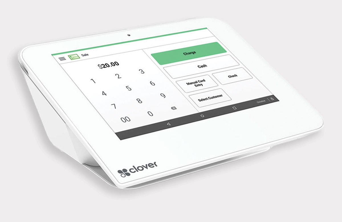 Clover™ Mini touchscreen point of sale equipment available from ZERO™
